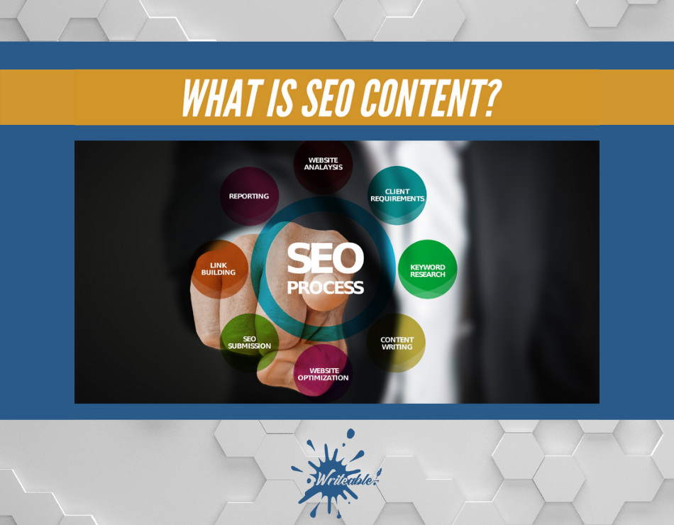 what is seo content by Writeable